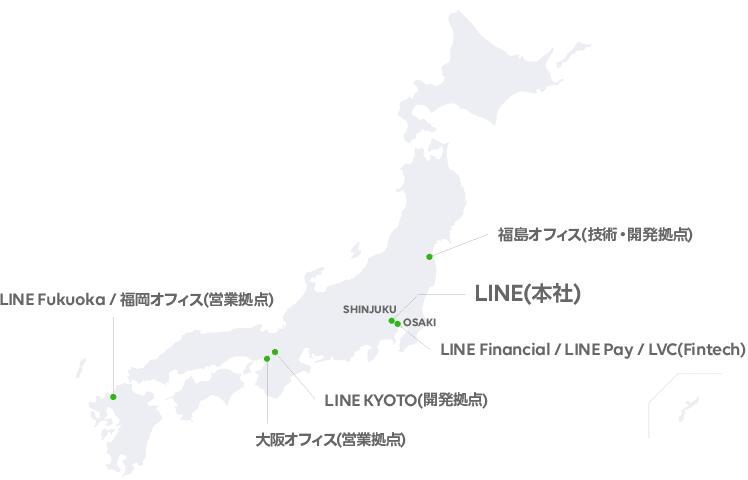 LINE 国内オフィスの図
