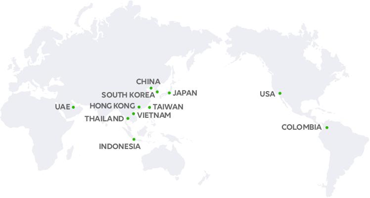 LINE グローバルオフィスの図