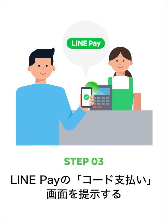 STEP03 LINE Payの「コード支払い」画面を提出する